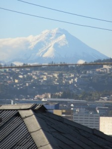 Cotopaxi from my 2nd storey bedroom window